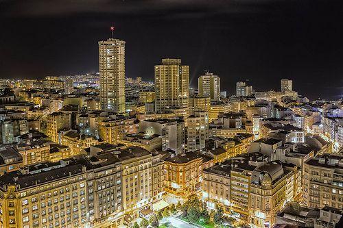 A Coruña de noite