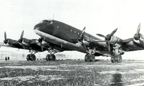 Ju-390 at rest at an airfield