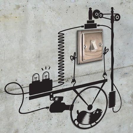 Switch Lighting Wall Design Stickers