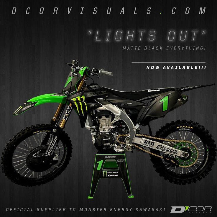 D'Cor Visuals Official Supplier to Monster Energy Kawasaki Team.