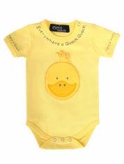 Eieio Yellow Duck Baby Bodysuit