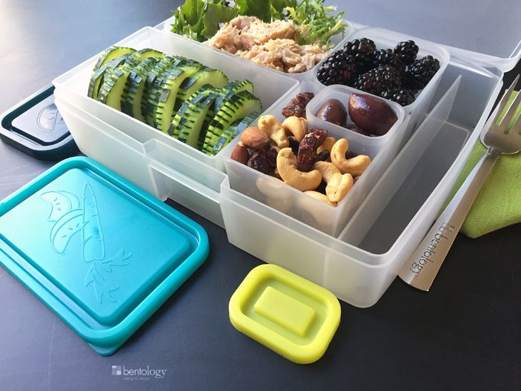 Now that we're getting back into school lunch packing season, it's the perfect time to start getting into the habit of taking a lunch to work - saves money and pounds - and, with something to be enjoyed by everyone - this lunch is perfect for doing just that! #bentology #lunches #schoollunches #bentolunches #lunchesforwork #lunchideas