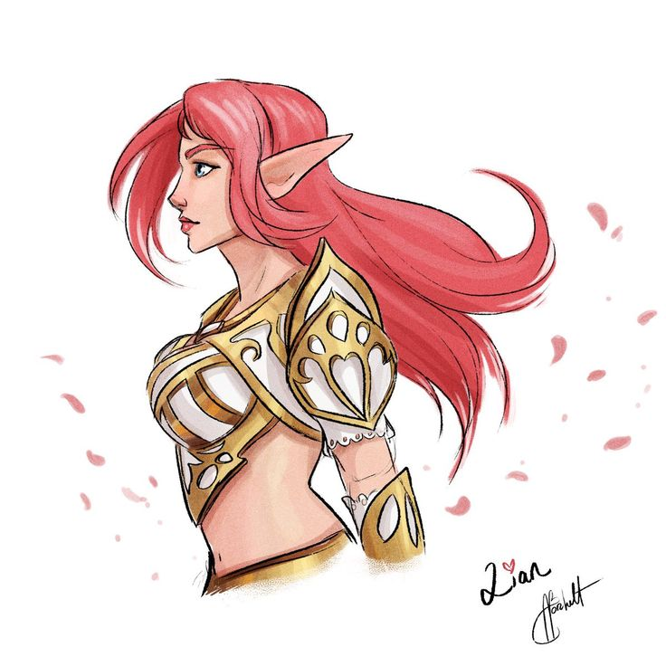 """April Borchelt on Twitter: """"A fun quick fan piece of one of my favorite champions: Lian  This was her newest elf skin @paladinsgame #paladins #art #fanart #lian #princess #highelf #gameart #sketch #hirezstudios… https://t.co/ezYqPmPCsN"""""""