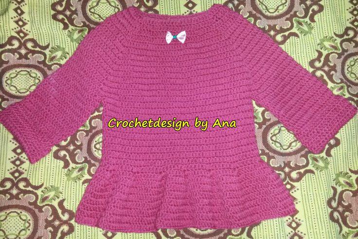 Crochet little girl sweter