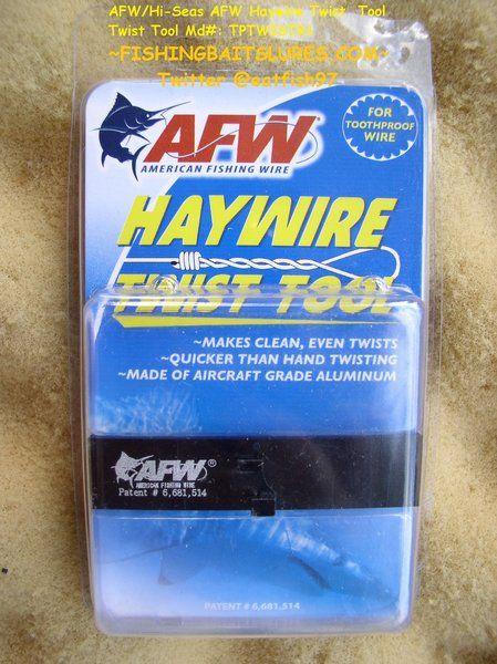 AFW / Hi-Seas Haywire Twist Tool Md#: TPTWISTR1 for Twisting Wire Leader http://fishingbaitslures.com/products/afw-hi-seas-haywire-twist-tool-md-tptwistr1-for-twisting-wire-leader