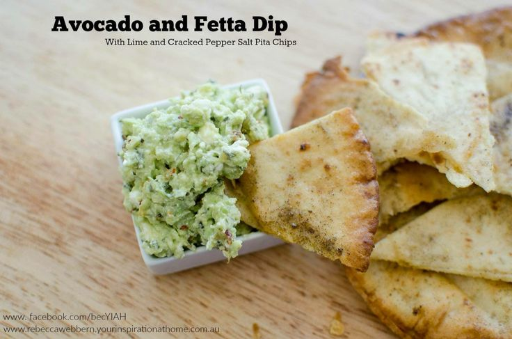 Yum avocado smashed with fetta and YAIH guacamole dip mix. Plus pitta chips full recipe at www.facebook.com/becYIAH