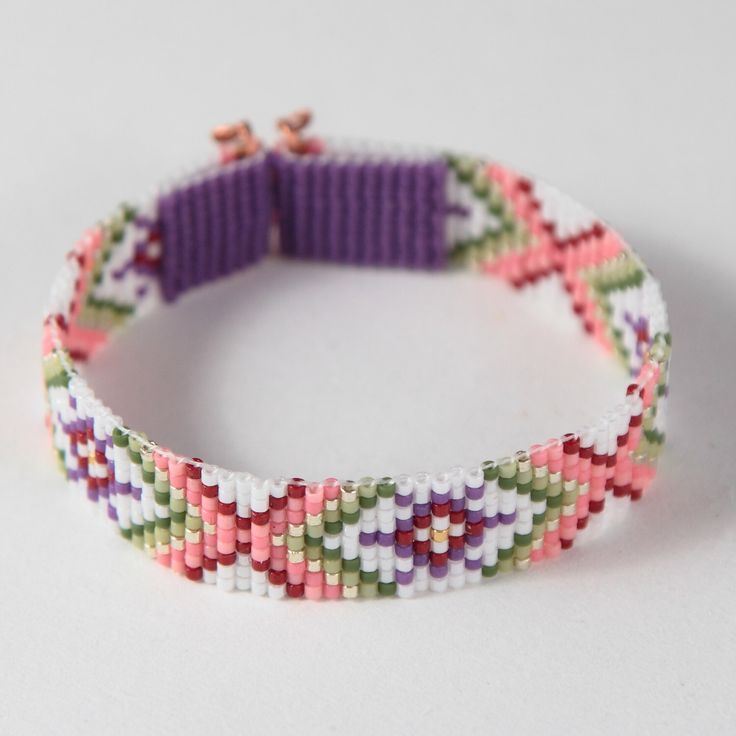 Guava Juice Bead Loom Friendship Bracelet Bohemian Boho Artisanal Jewelry Southwest Colors Beaded Tribal Native American Style Copper Rodeo by PuebloAndCo on Etsy https://www.etsy.com/listing/239649528/guava-juice-bead-loom-friendship