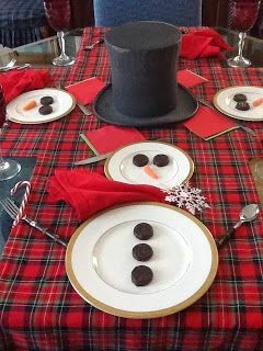 The Quintessential Magpie: Copycat Challenge: Frosty Dines or How to Build a Snowman Tablescape for Kids of All Ages (1 to 101)!