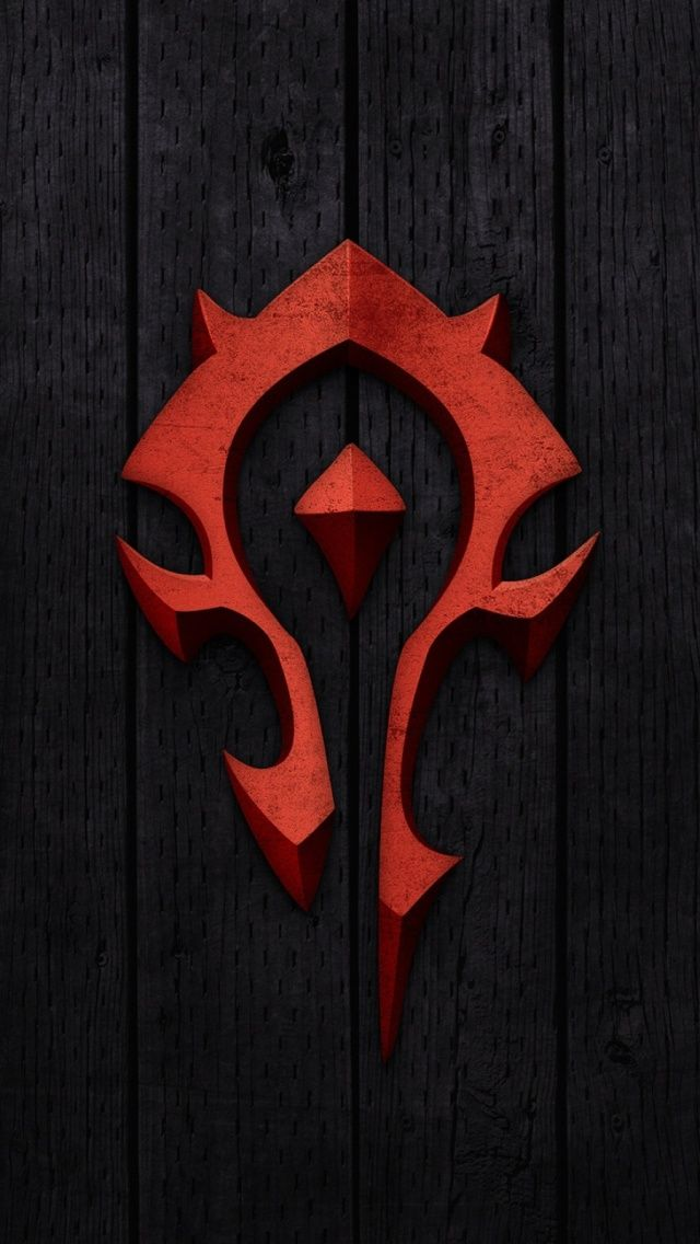 New World Of Warcraft u2013 Horde Sign Mobile Wallpaper - Mobiles Wall 3