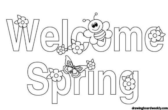 First Day Of Spring Coloring Page The First Day Of Spring