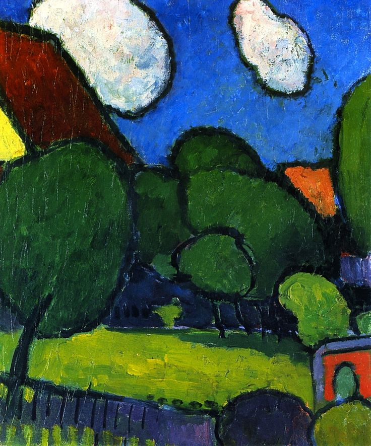 Alexei Jawlensky - 1909. Alexej Georgewitsch von Jawlensky was a Russian expressionist painter active in Germany. He was a key member of the New Munich Artist's Association, Der Blaue Reiter group and later the Die Blaue Vier.