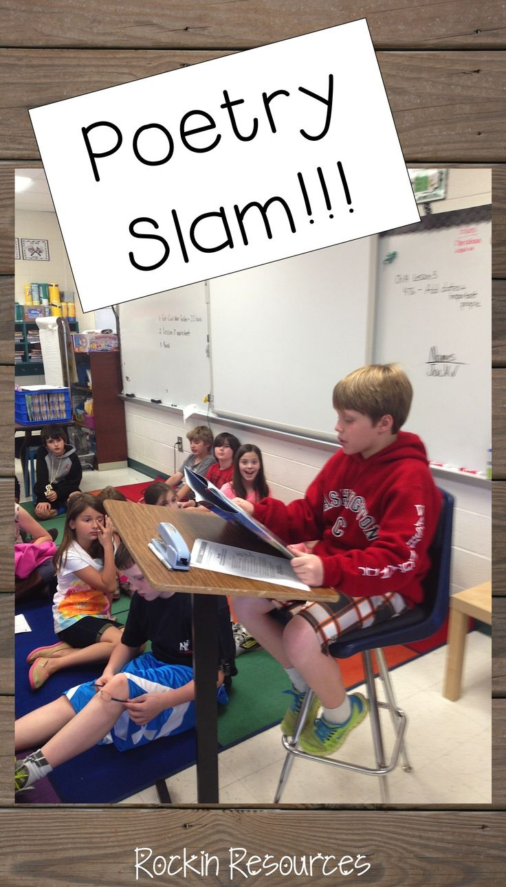 Grab ideas for teaching poetry and holding a poetry slam!