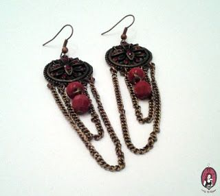 P-Project Blog: Praktika - Piros oriental fülbevaló