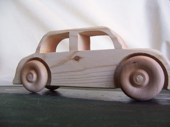 Big Wheel Toy Car Sedan Handmade from Upcycled by Tigerseyecrafts, $15.00