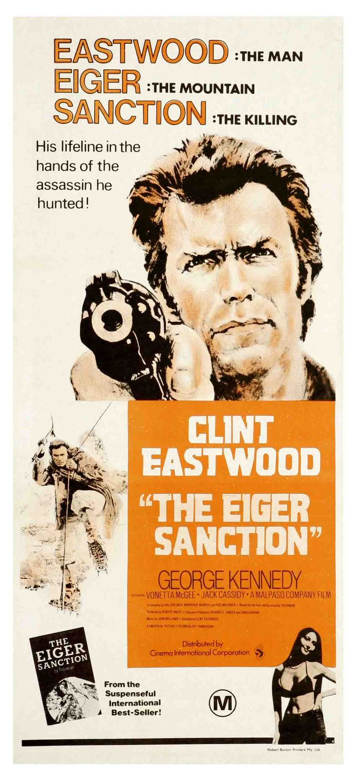 """The Eiger Sanction"" (1975). Director: Clint Eastwood."