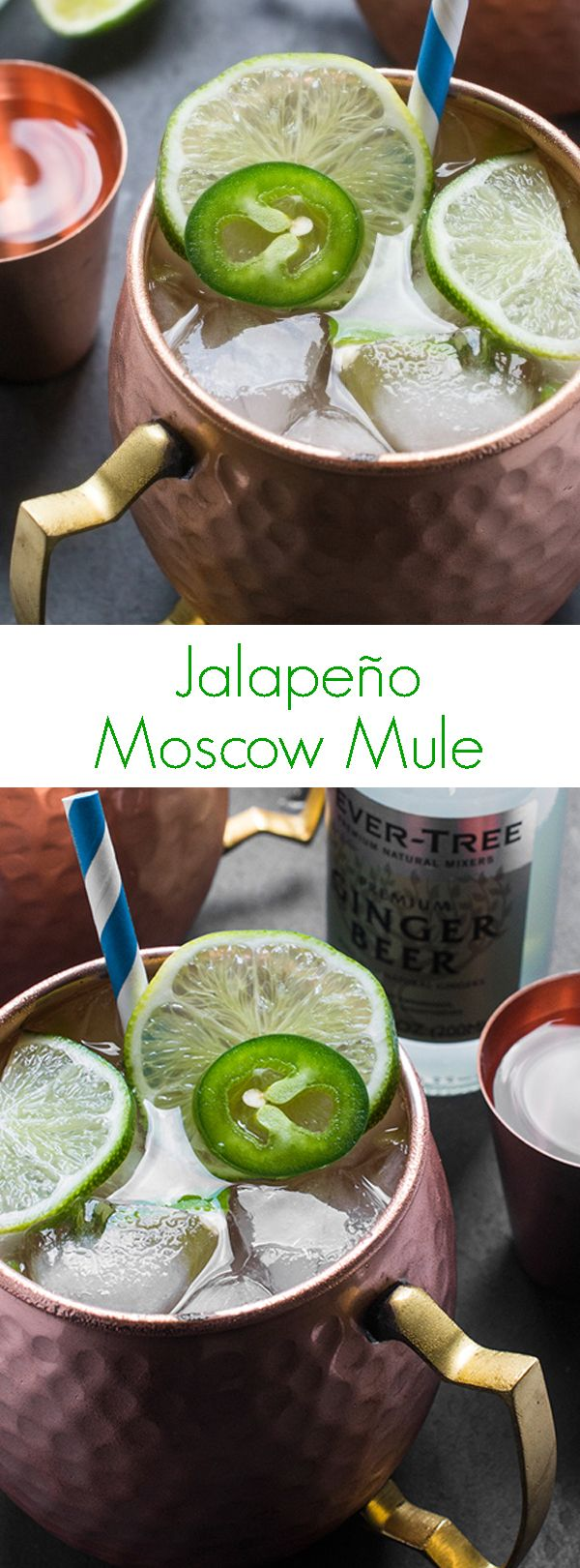 Jalapeno Moscow Mule - A spicy twist on the traditional Moscow mule recipe that's perfect for the summer!