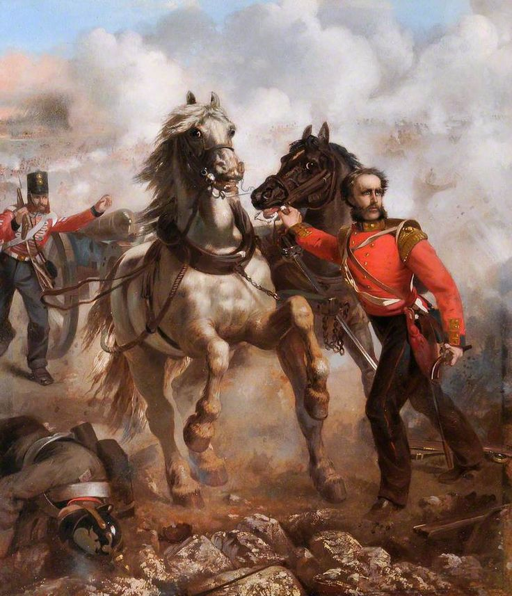 Captain E. W. D. Bell Winning His VC at the Alma, 20th September 1854 by Louis William Desanges