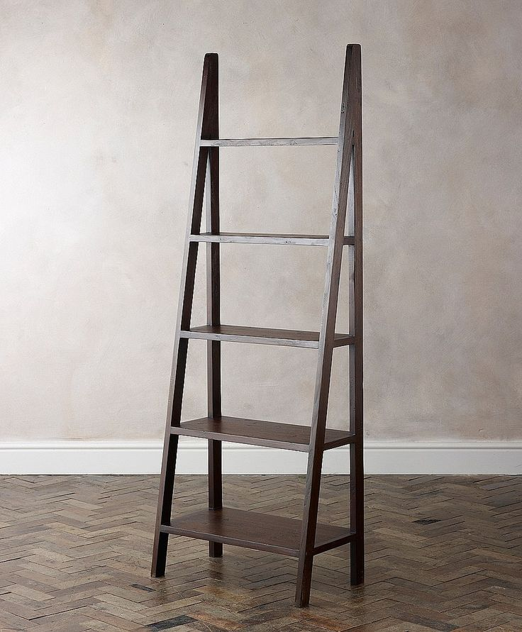Malang Ladder Wooden Bookcase from Lombok