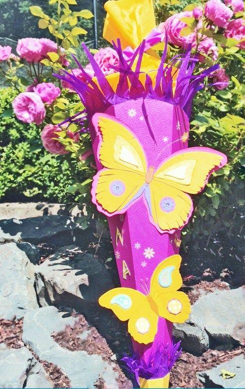 Schultüte Schmetterling selbst gemacht