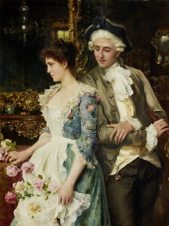 Looks Like: Sigourney Weaver and Tom Hiddleston Federico Andreotti (italiano, 1847-1930) - Flirtation