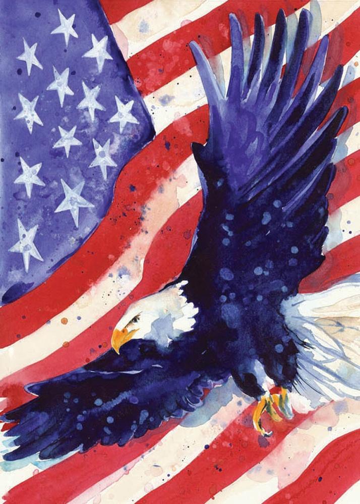 Americana Flags   Liberty Eagle House Flag