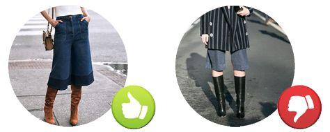Outfit Perfetto: CONSULENZA DI MODA: come abbinare gli stivali ai pantaloni culotte?