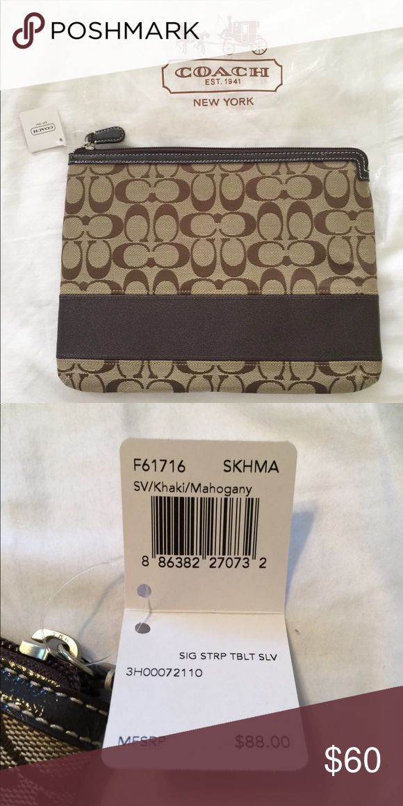 BNWT - Coach iPad Traveling Case Designer iPad case for when you are on the go! 💫 Coach Bags Mini Bags