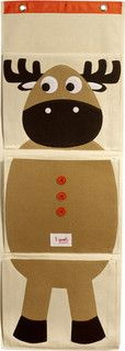 Organic Wall Pocket Organizer Moose Brown - eclectic - toy storage - by Layla Grayce