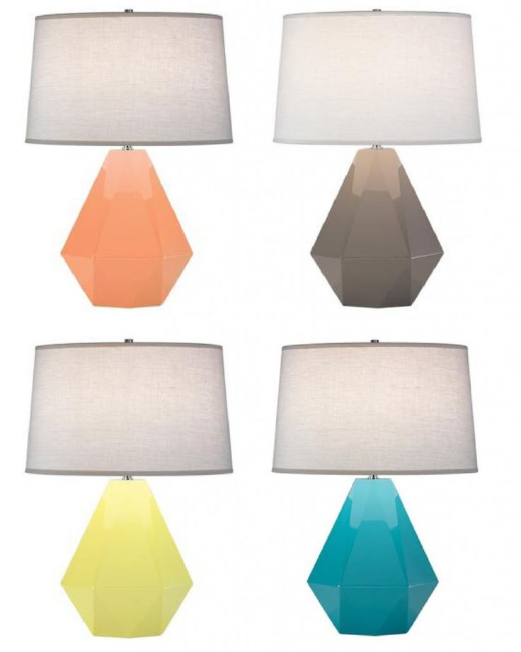 jewel lamps.. love love love: Living Rooms, Peaches Colors Lamps, Jewels Lamps, Abbey Delta, Design Interiors, Interiors Design, Delta Lamps, Cool Lamps, Robert Abbey
