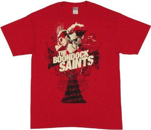 Boondock Saints - Mens Smoking T-shirt Small Red @ niftywarehouse.com #NiftyWarehouse #BoondockSaints #NormanReedus #Film #Movies #CultMovies #CultFilms