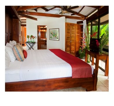 Casa de las Flores #vacation #villa in Costa Rica is perfect for up to 6 people.  Ocean view and near the #beach.  www.4tulemar.com