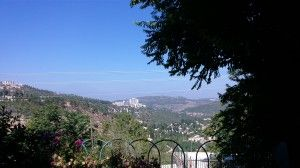 view from my cousin's house in Jerusalem
