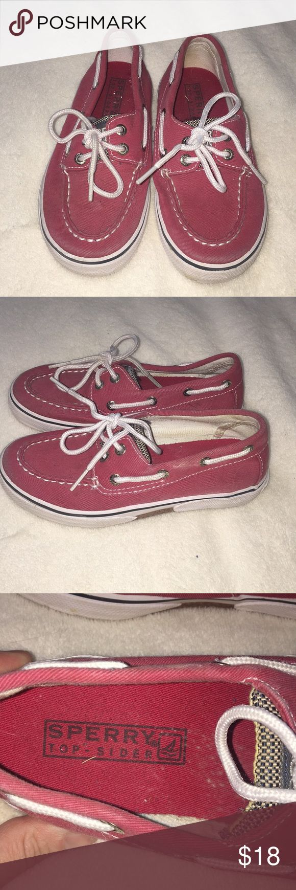 Boys Sperry Top-Sider shoes - Size 12.5 Boys Sperry Top-Sider shoes - Size 12.5. Color is red.  These were worn a few times to Church only.  Lots of life left. Sperry Top-Sider Shoes