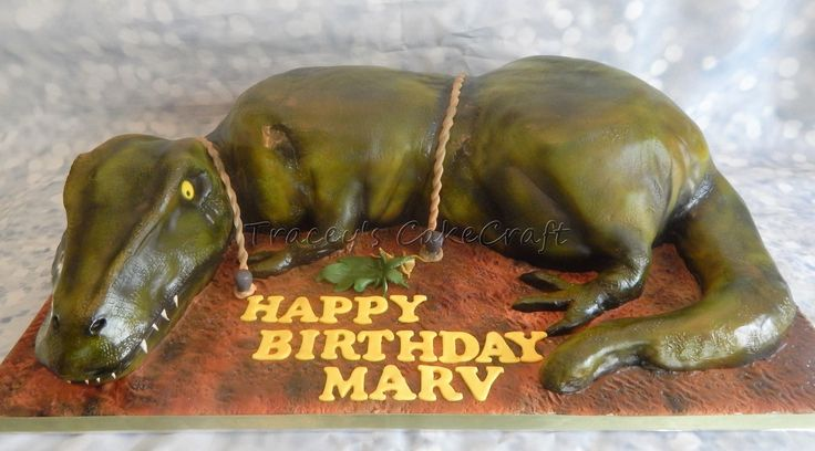 T Rex, dinosaur cake