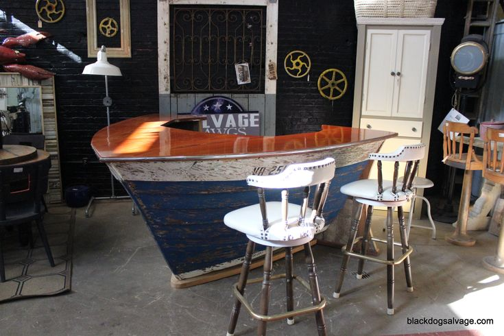 Boat Bar by Black Dog Salvage in Roanoke, Va. I love this bar. . . I think it is amazing.
