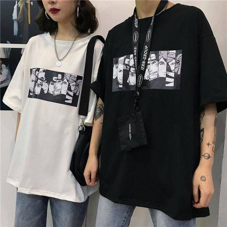 Naruto Itachi Uchiha Akatsuki Cosplay Causel T-shirt Top Long sleeve Anime Sa