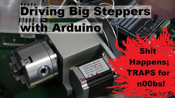 Arduino BIG Stepper Motor control. Rotary Axis for milling machine.