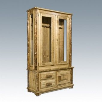 16 best images about gun cabinets on pinterest hidden for Log cabin gunsmithing