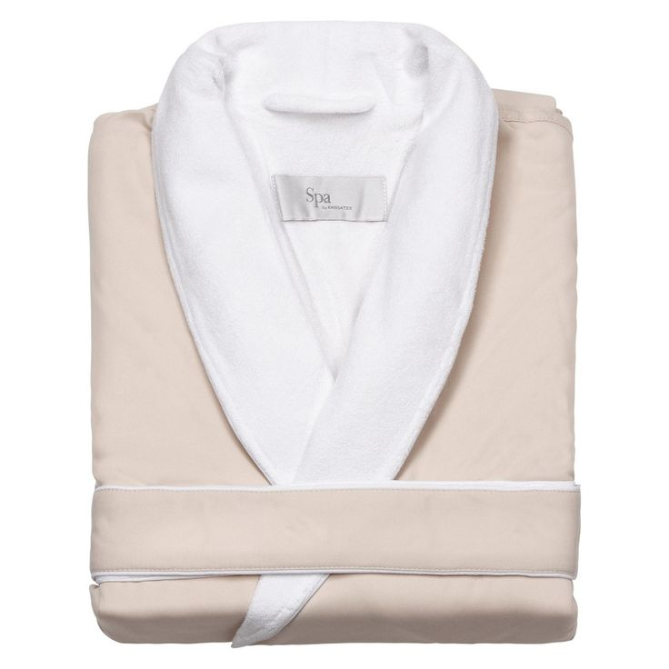 Kassatex Spa Bath Robe - Cream (Ivory) (