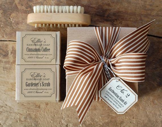 Hardworking Hands Kit - 100% Natural Handmade Soap Gift Box