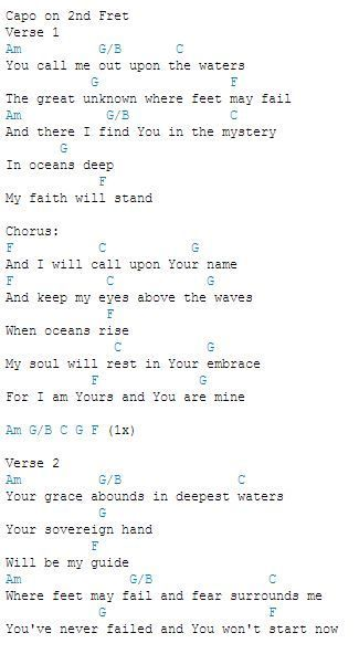 Oceans Chords.... I promise, I'm not obsessed with this song...