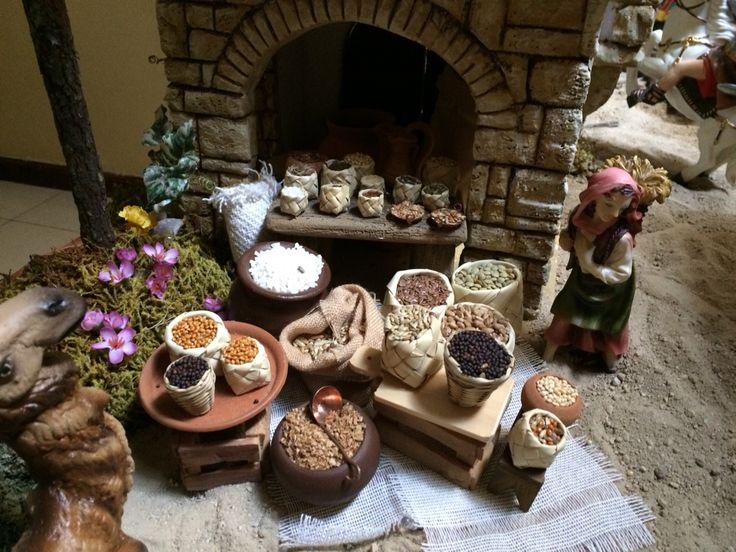 Puesto de cereales. Nacimiento 2014. Gabriela Aranda. Guadalajara, Jalisco, México.