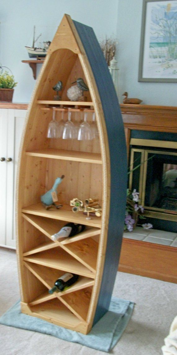 6 Ft Boat Wine Rack Glass Holder Bookcase Shelf By