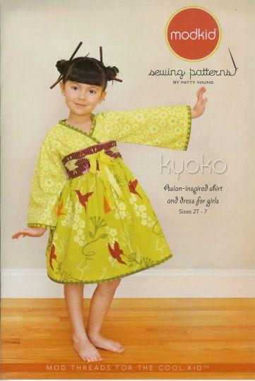 Modkid Kyoko Pattern Asian Inspired Shirt and Dress sizes 2T-7