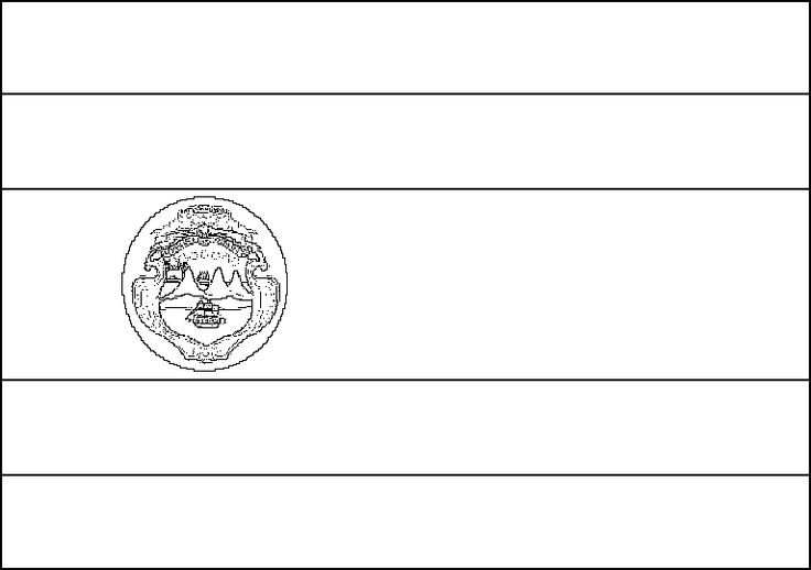 costa rica flag coloring pages - photo#2