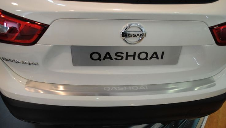nissan qashqai 2014 rear bumper chrome top protector entry. Black Bedroom Furniture Sets. Home Design Ideas