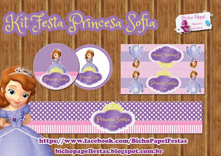 Kit Festa Princesa Sofia Para Imprimir Grátis