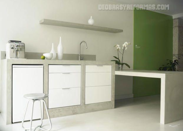 cocina de cemento pulido