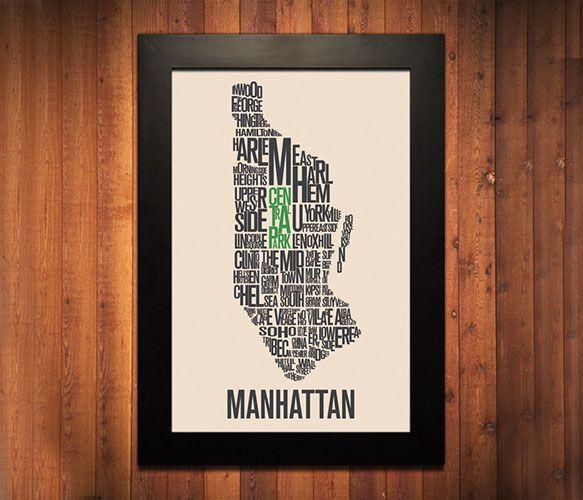 Manhattan Typography Print