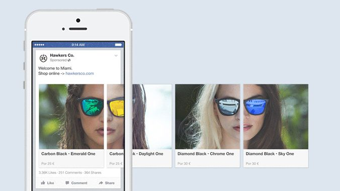 Last year Facebook launched a carousel format for Facebook ads that helped brands parlay multiple objectives into one ad space. The format allows advertisers to highlight different attributes, benefits or even products in one ad location. Now the carousel will be offered for mobile app ads.